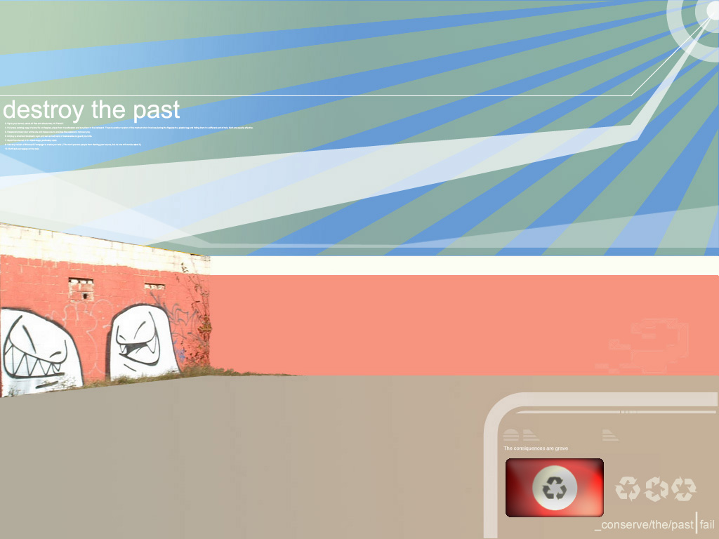 Abstract Wallpaper: Destroy the Past