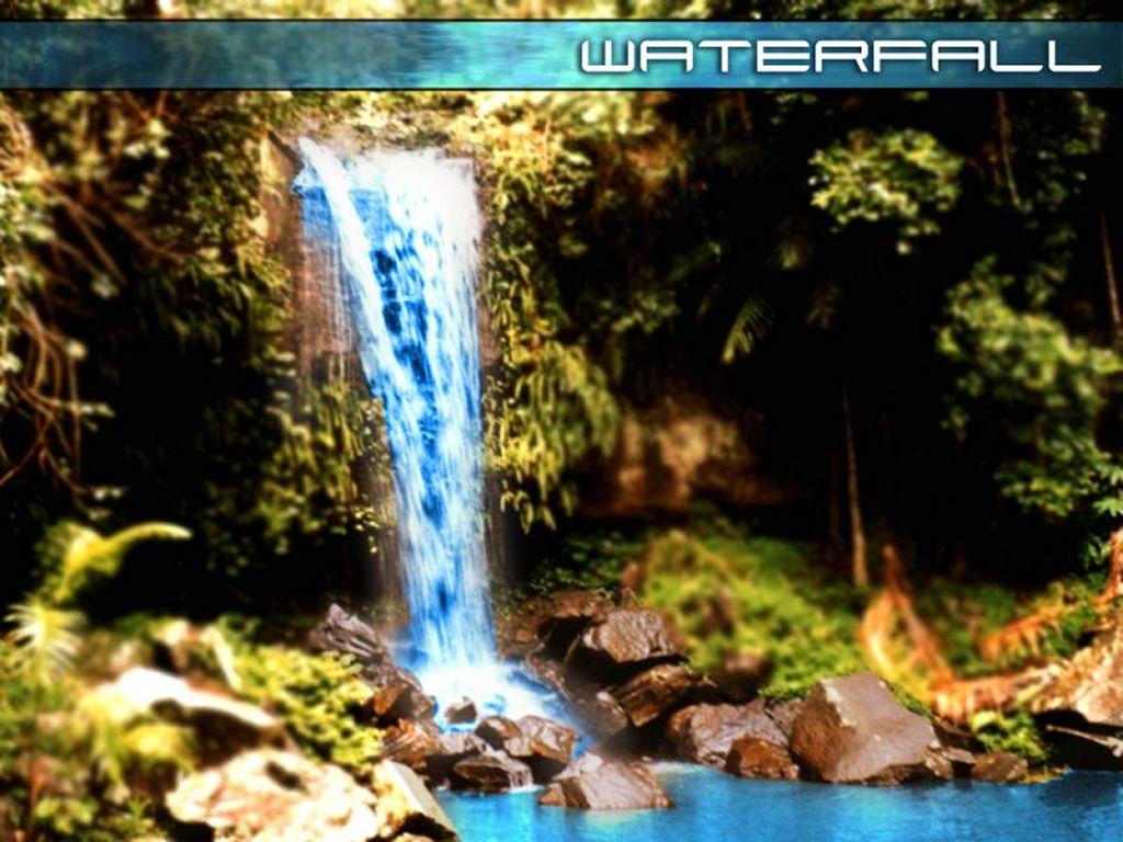 Abstract Wallpaper: Digital Waterfall