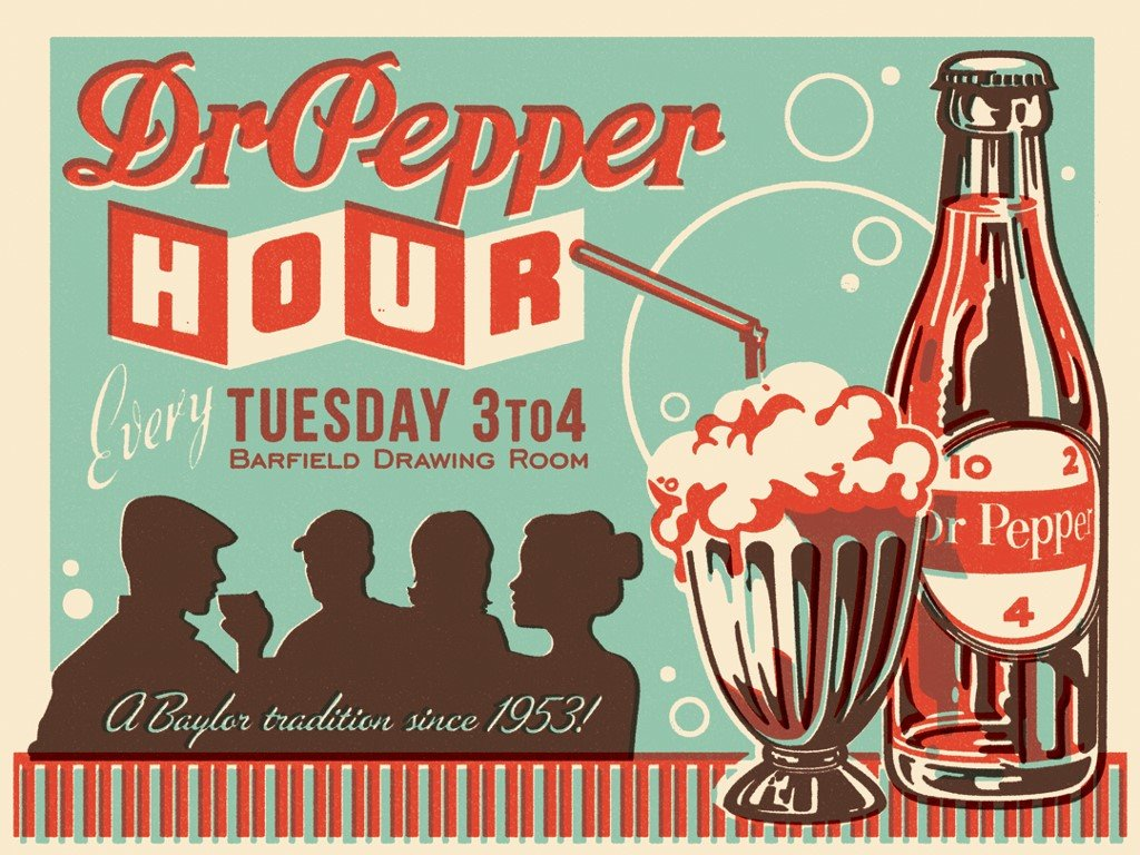 Abstract Wallpaper: Dr. Pepper - Vintage