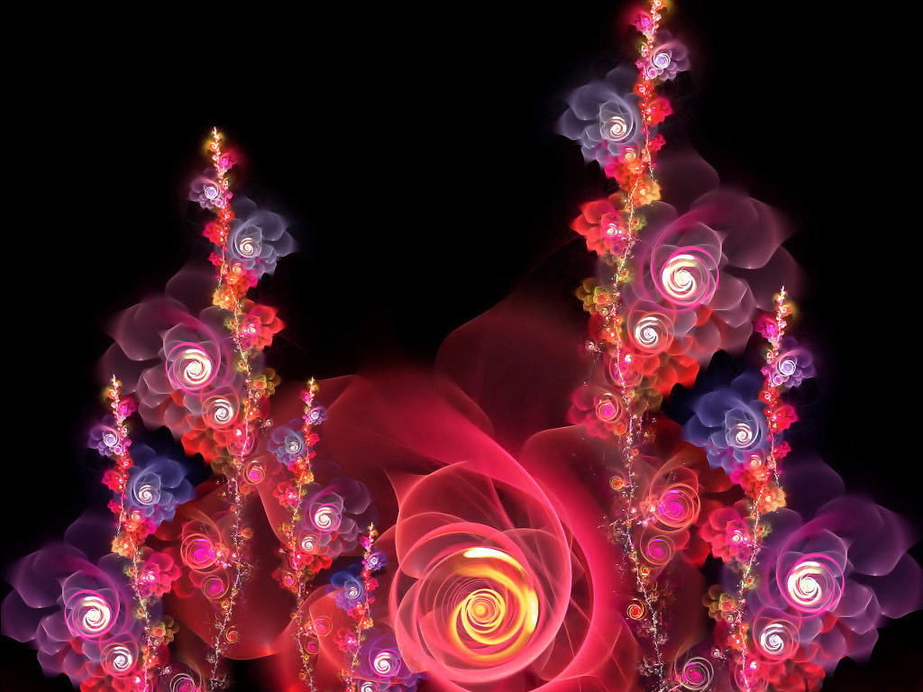 Abstract Wallpaper: Easter Flowers