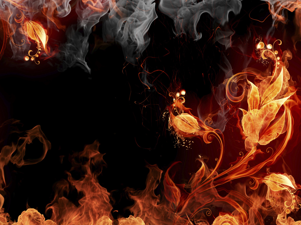 Abstract Wallpaper: Elemental Fire