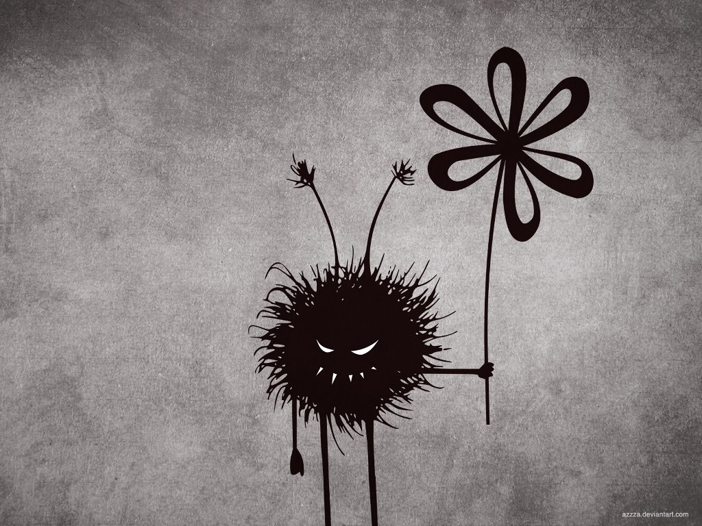 Abstract Wallpaper: Evil Flower Troll