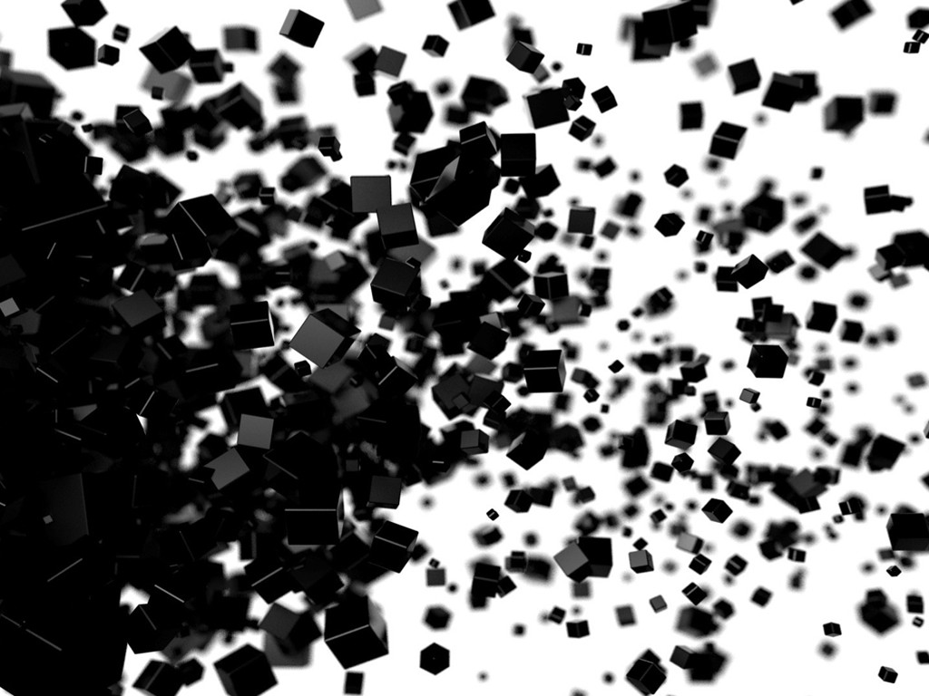 Abstract Wallpaper: Exploding Cubes