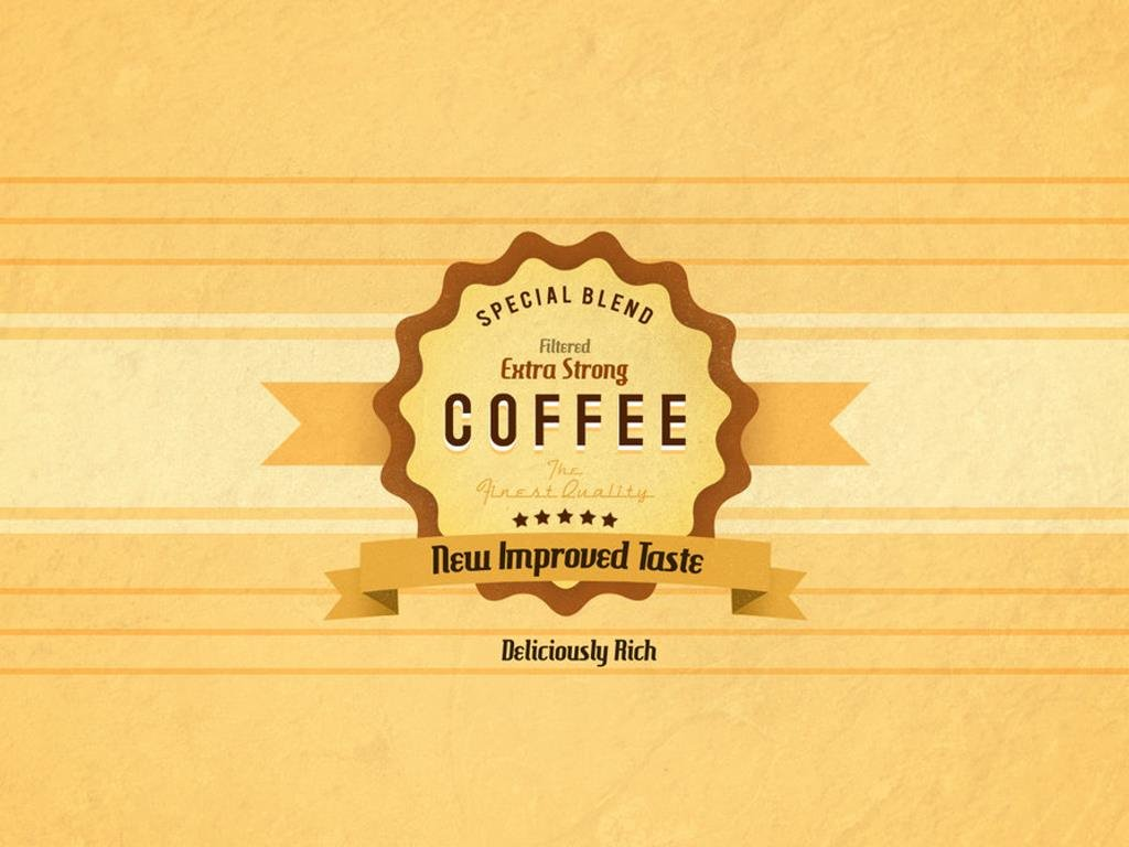 Abstract Wallpaper: Extra Strong Coffee