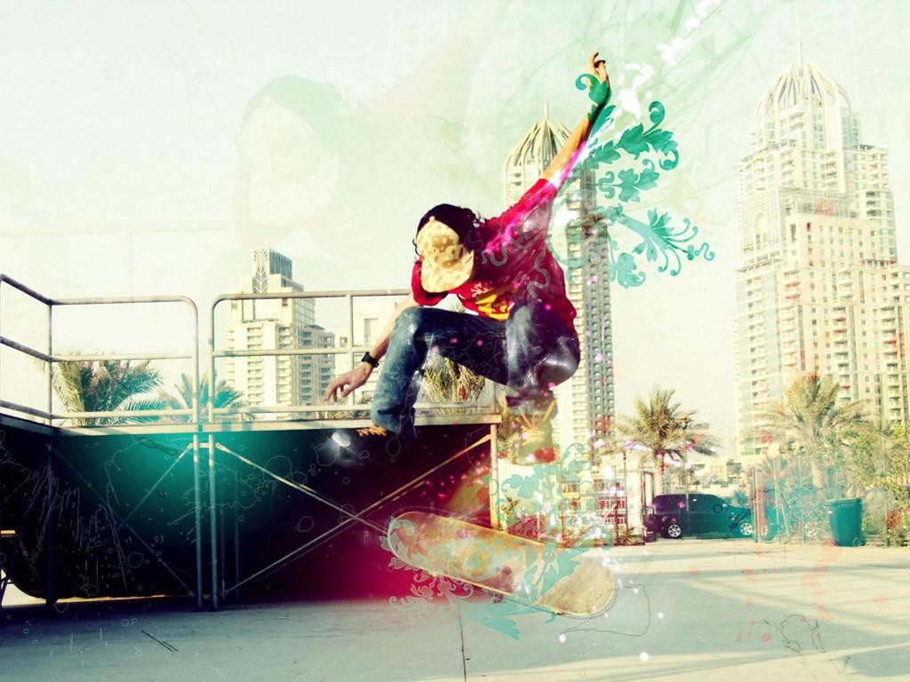 Abstract Wallpaper: Extreme Skating