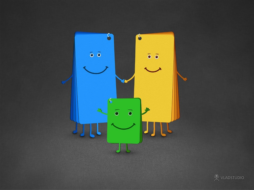 Abstract Wallpaper: Family of Colors