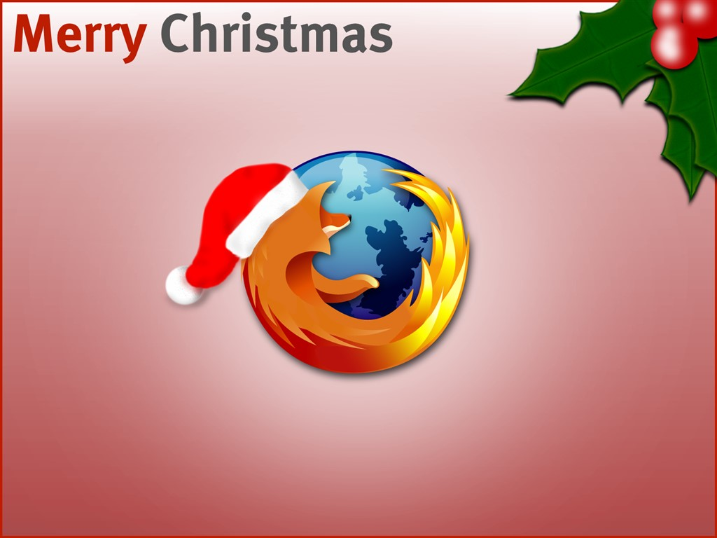 Abstract Wallpaper: Firefox - Christmas