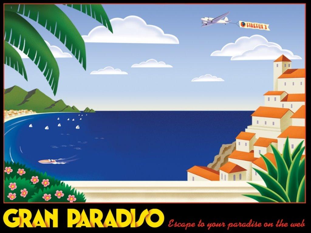 Abstract Wallpaper: Firefox - Gran Paradiso