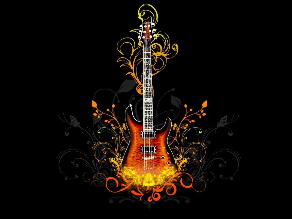 Abstract Wallpaper: Flame Guitar