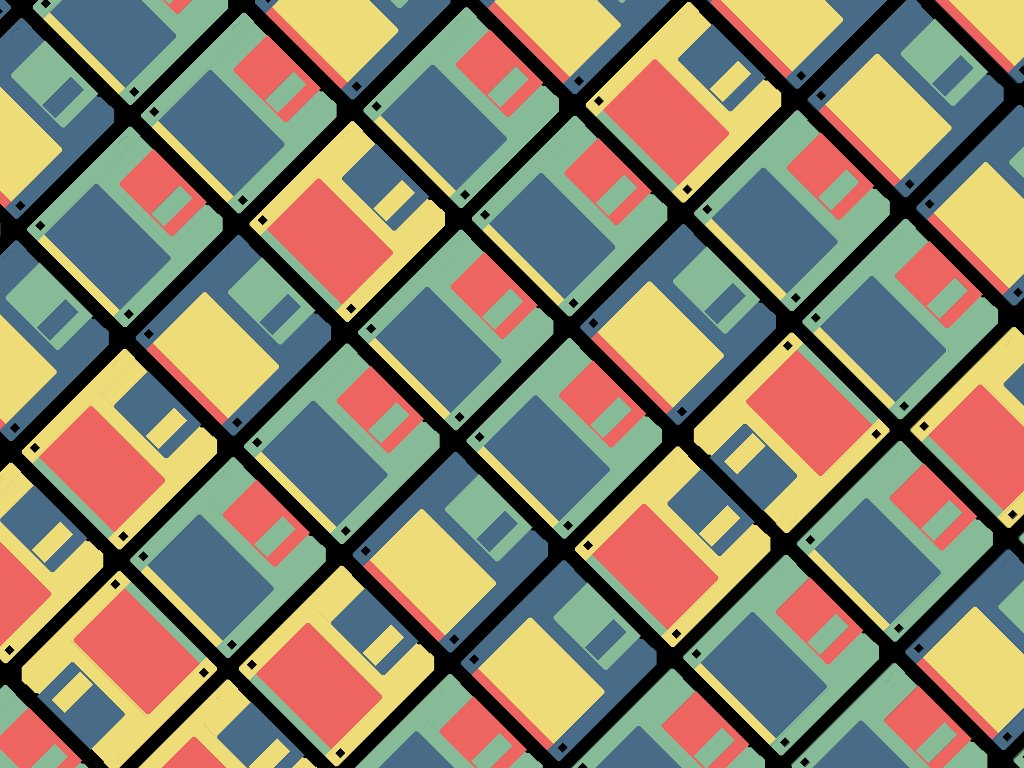 Abstract Wallpaper: Floppies