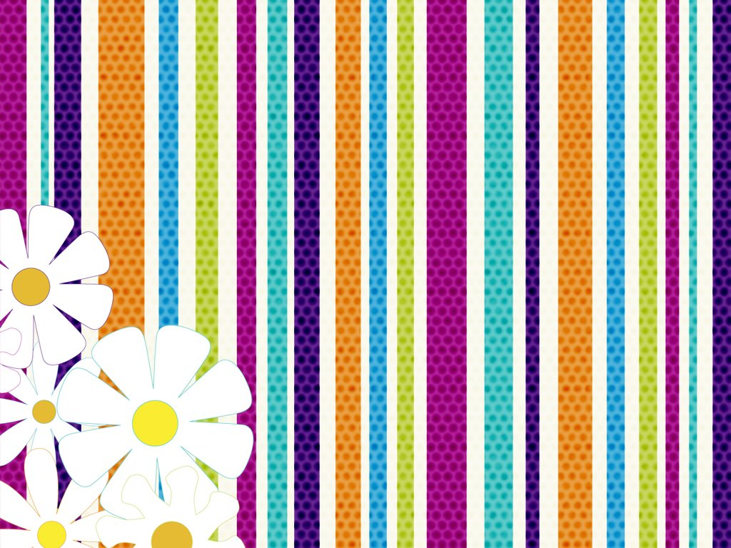 Abstract Wallpaper: Floral