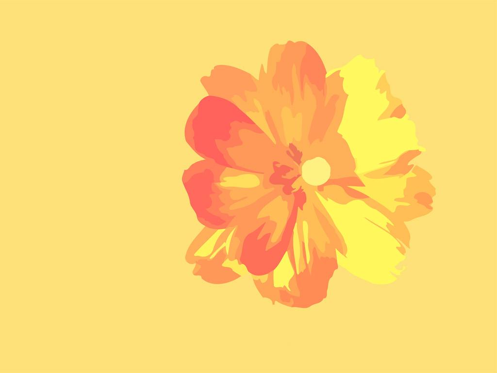 Abstract Wallpaper: Flower - Vector