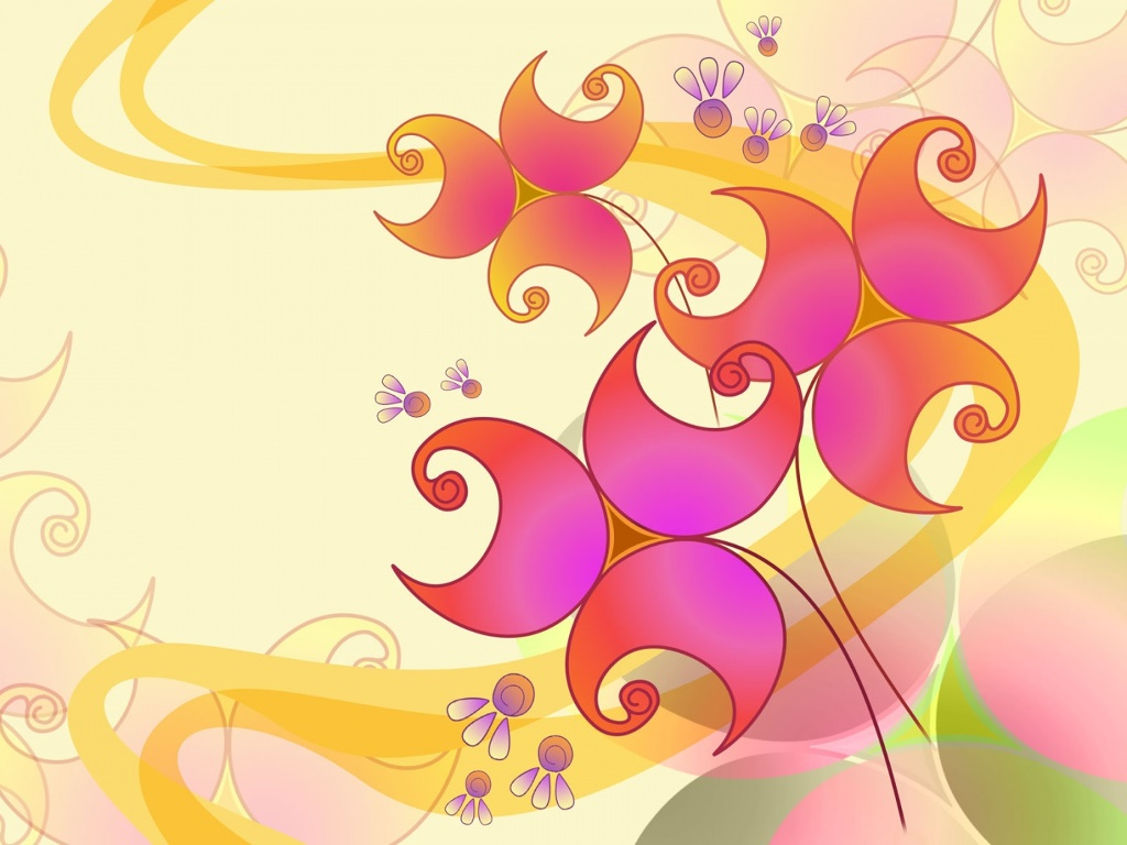 Abstract Wallpaper: Flowers Decor