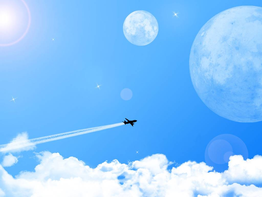 Abstract Wallpaper: Fly Me To the Moons