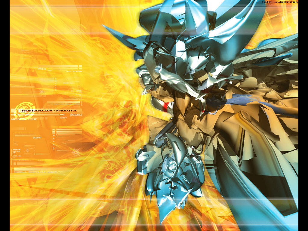 Abstract Wallpaper: Frontlevel - Fire Battle