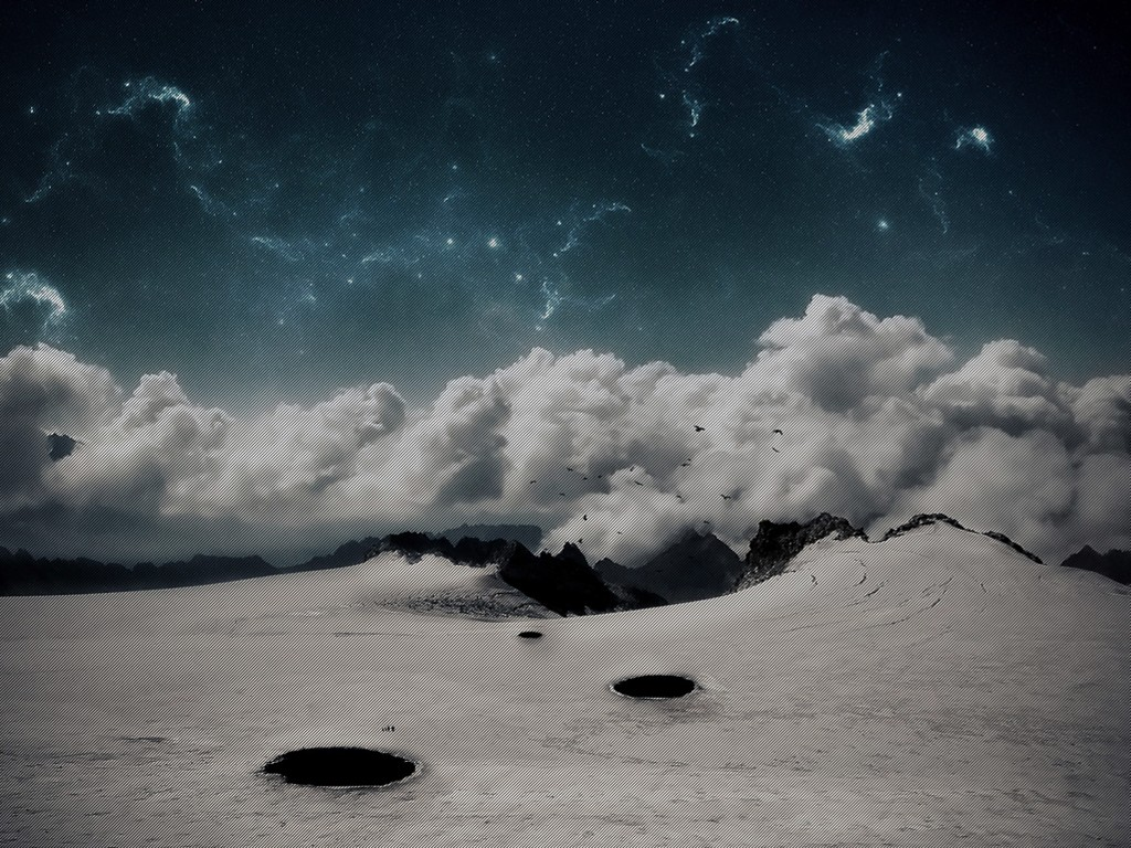 Abstract Wallpaper: Frozen Stars