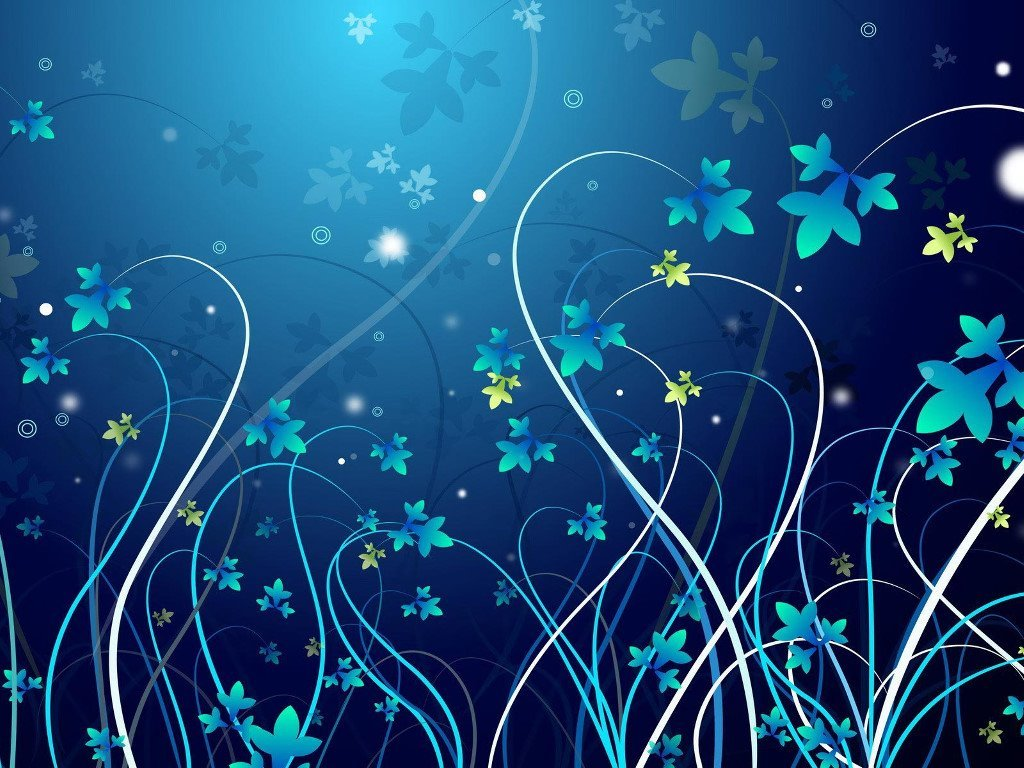 Abstract Wallpaper: Futuristic Flowers