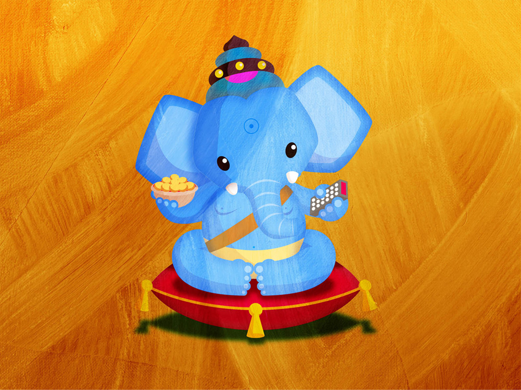 Abstract Wallpaper: Little Ganesha