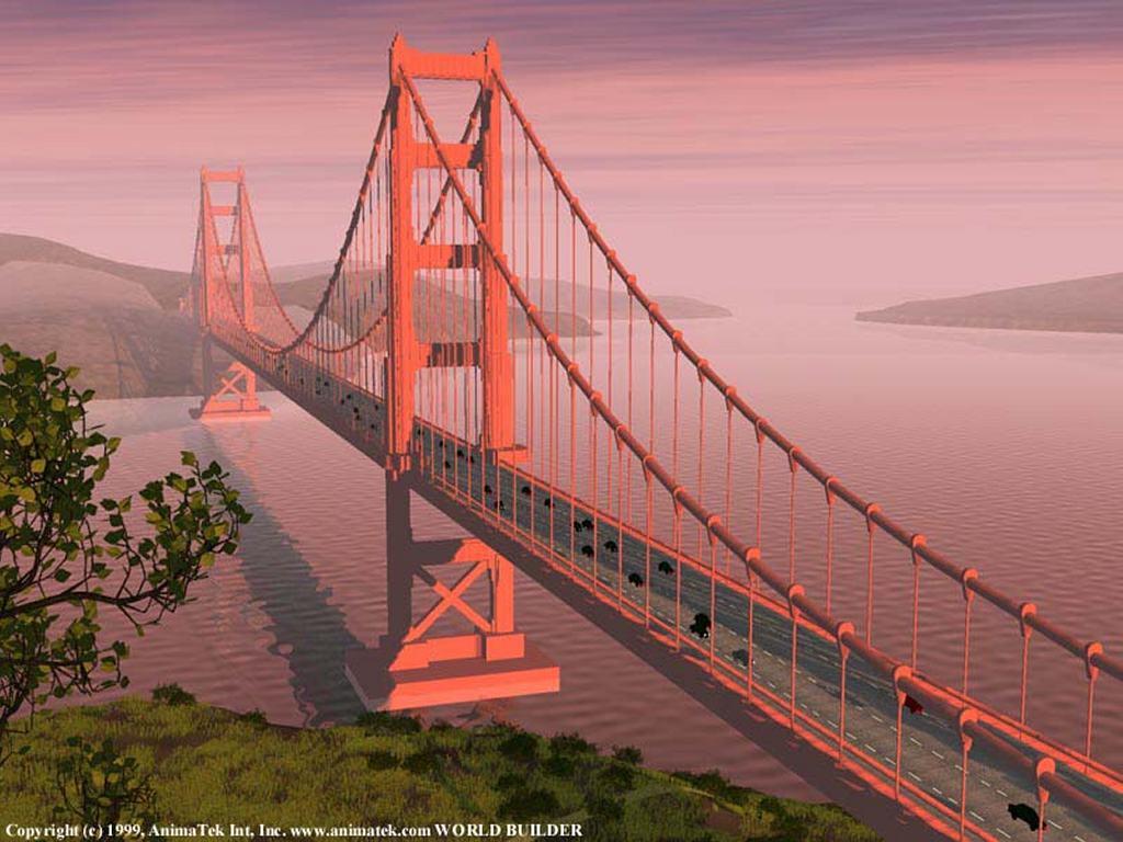 Abstract Wallpaper: Golden Gate Bridge
