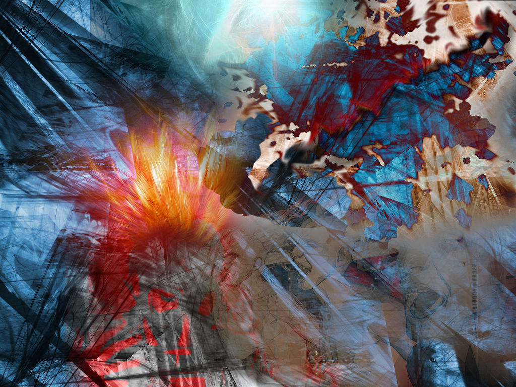 Abstract Wallpaper: Graveyard Blue Moon by Hell in Hell