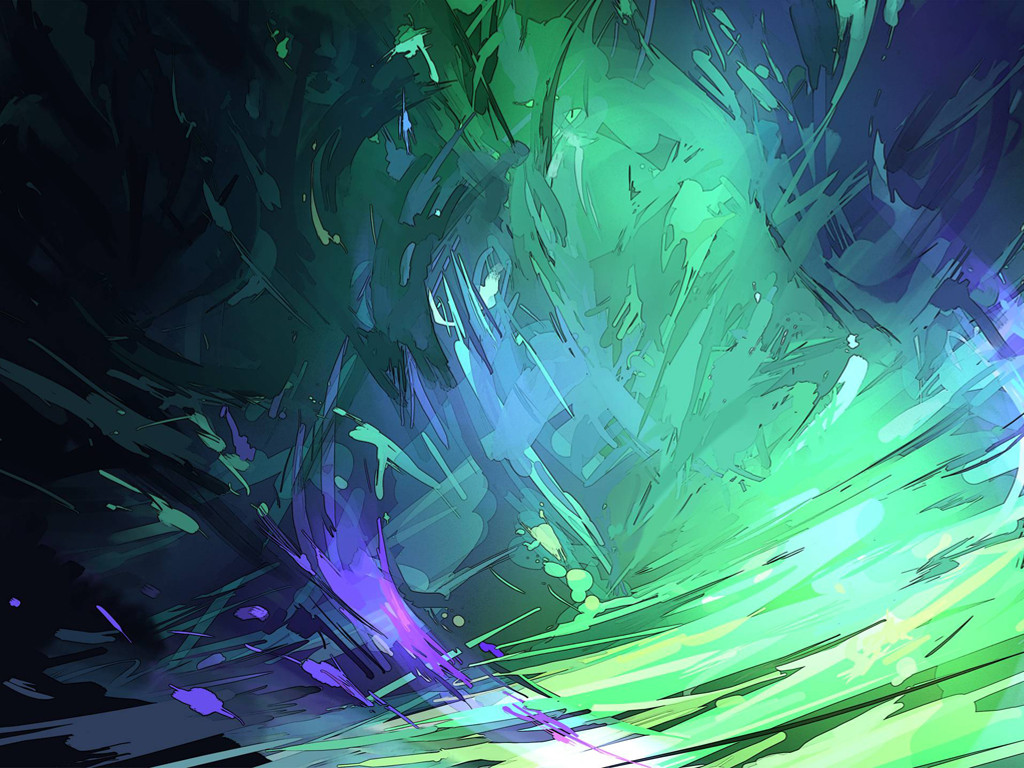 Abstract Wallpaper: Green Storm