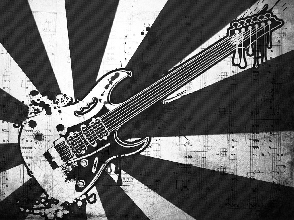 Abstract Wallpaper: Guitar - Grunge Style