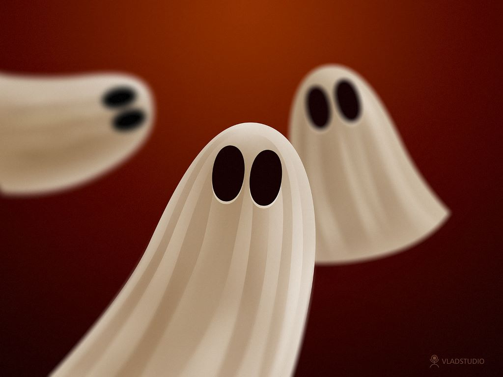 Abstract Wallpaper: Halloween Ghosts