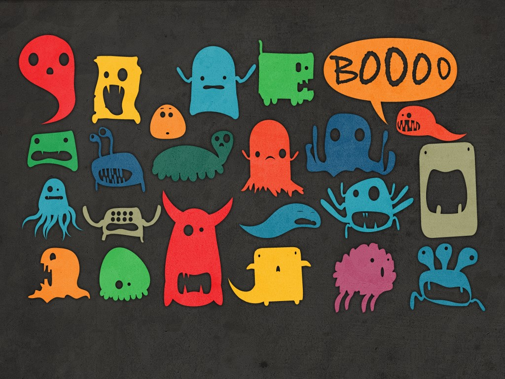 Abstract Wallpaper: Halloween - Lil Monsters