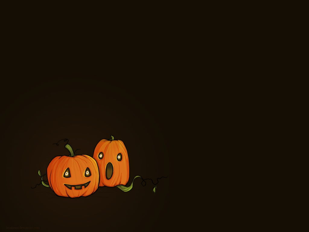 Abstract Wallpaper: Halloween Pumpkins
