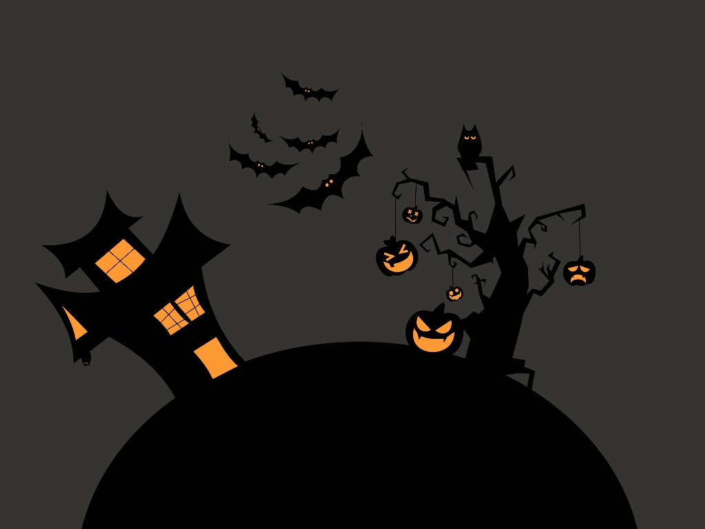 Abstract Wallpaper: Halloween - Vector House