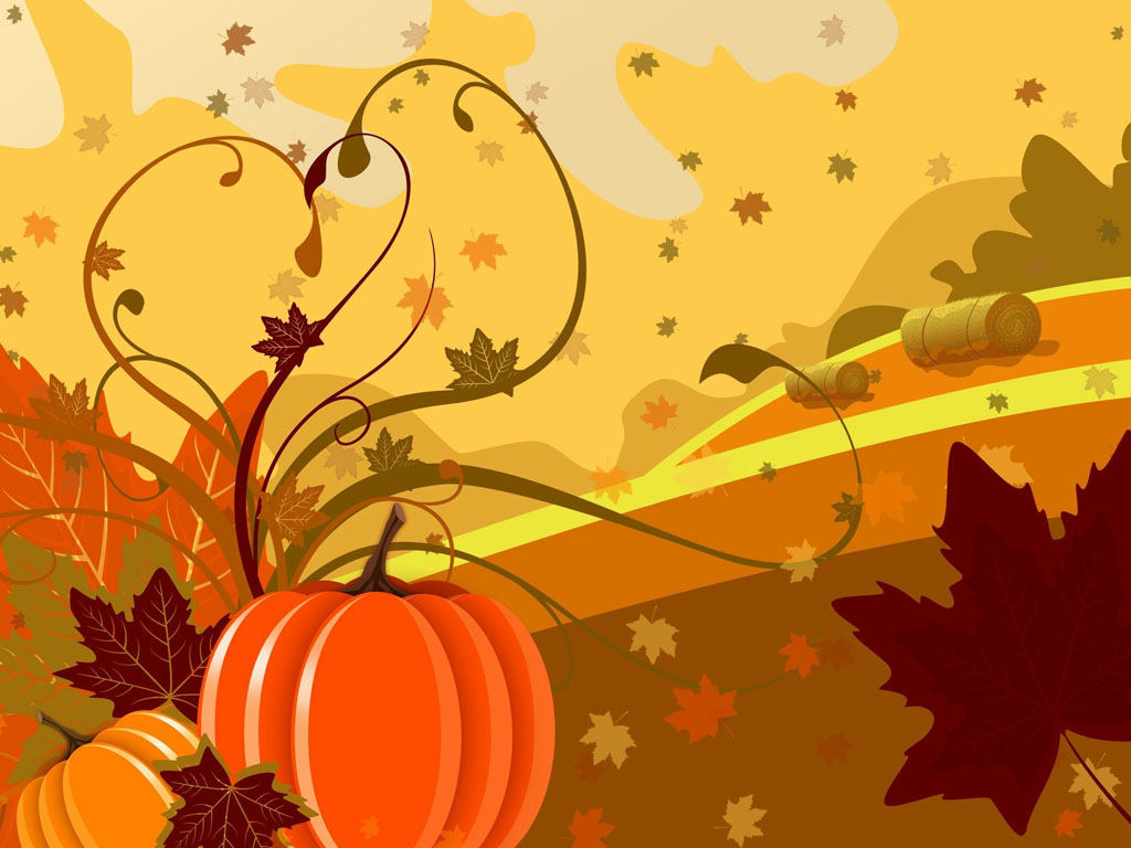 Abstract Wallpaper: Halloween - Vector Pumpkin