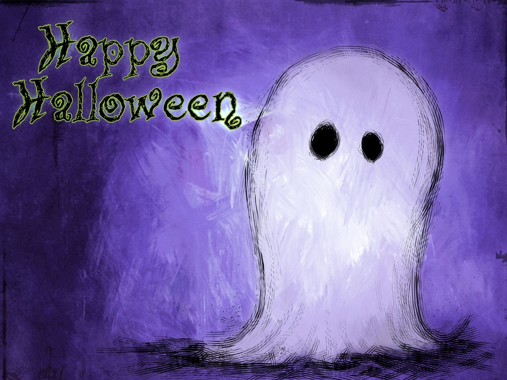 Abstract Wallpaper: Happy Halloween - Ghost