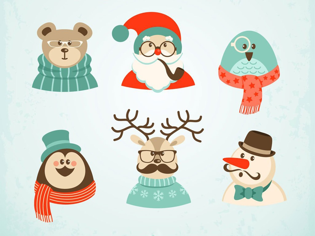 Abstract Wallpaper: Happy Hipster Holidays