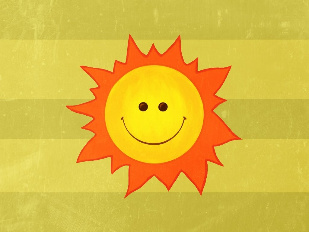 Abstract Wallpaper: Happy Sun