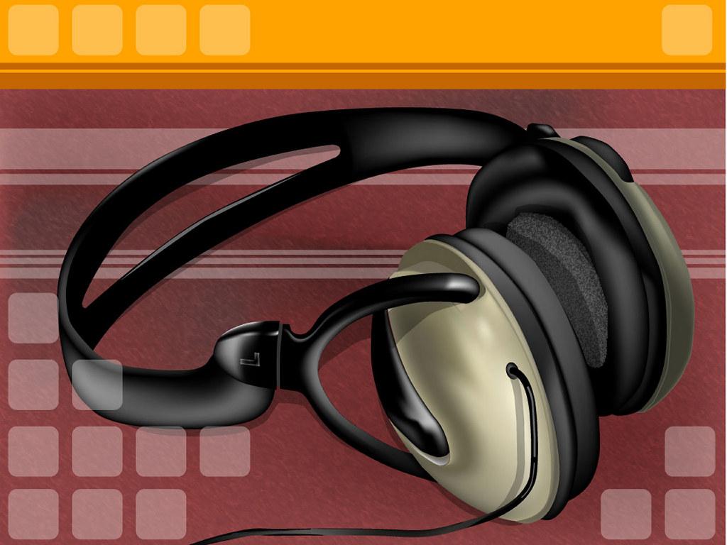 Abstract Wallpaper: Headphones