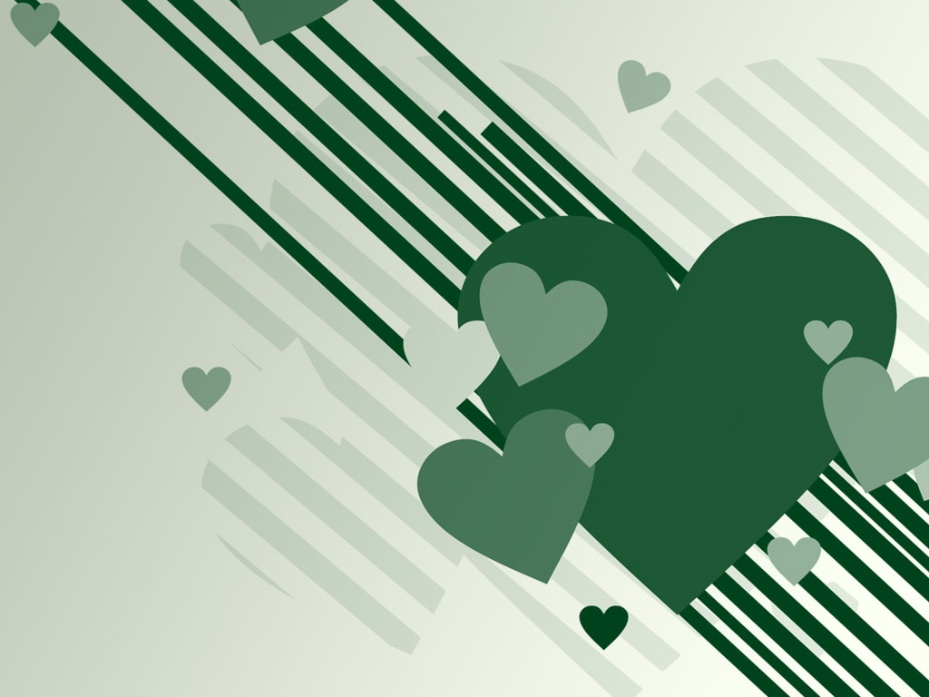 Abstract Wallpaper: Heart Green