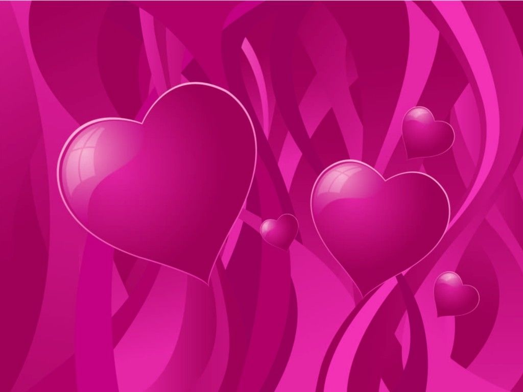 Abstract Wallpaper: Hearts - Love
