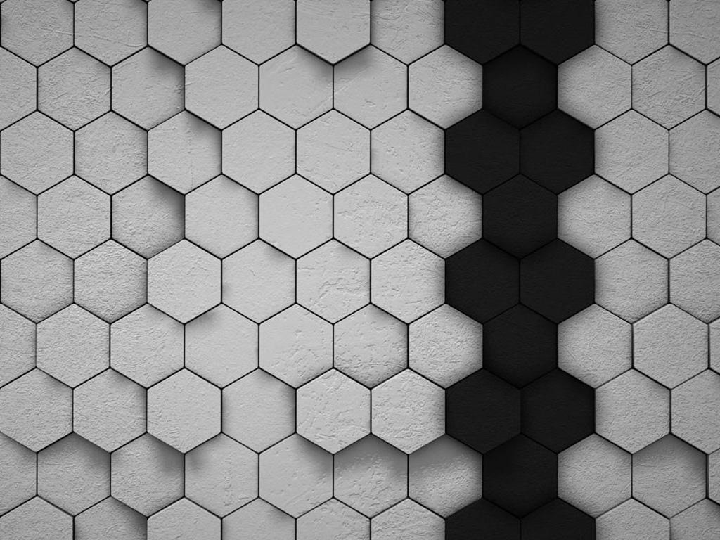Abstract Wallpaper: Hexagons