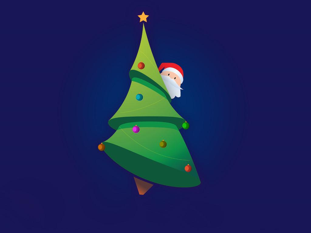 Abstract Wallpaper: Hiding Santa