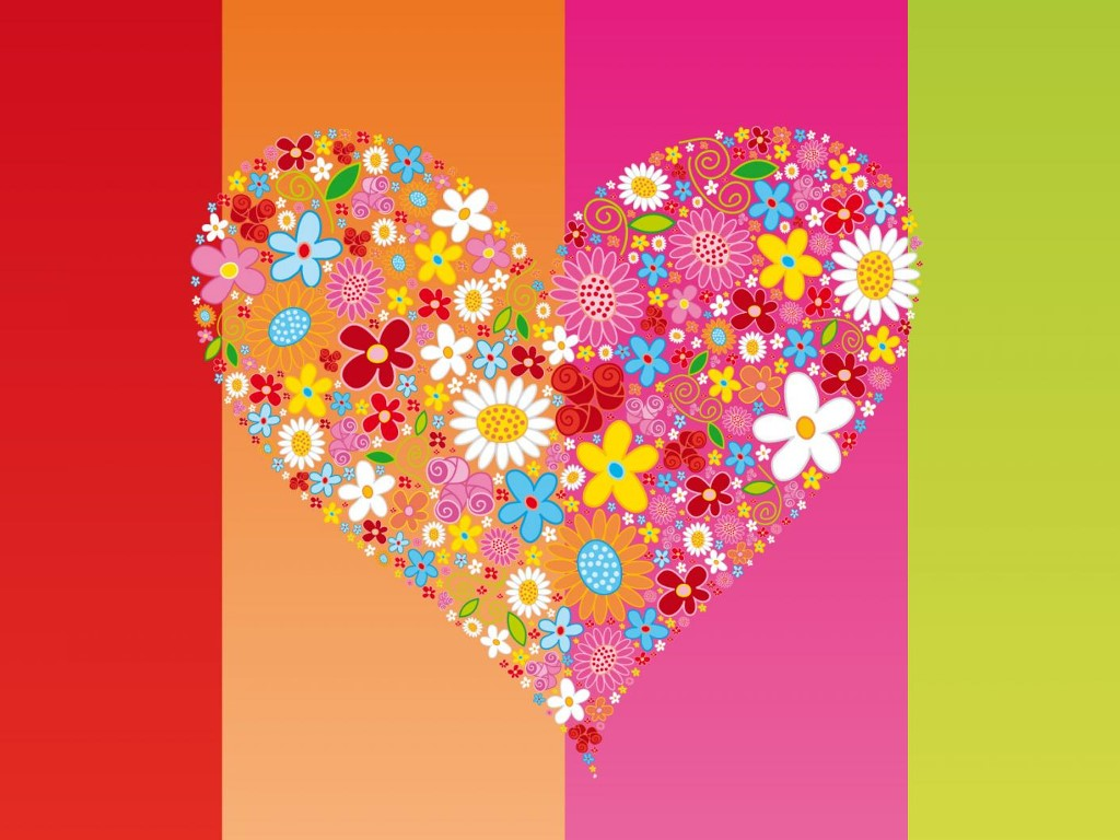 Abstract Wallpaper: Hippie - Love