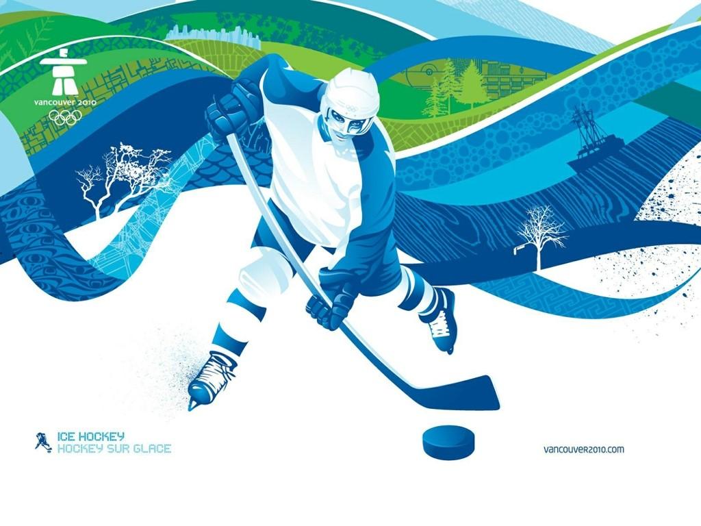 Abstract Wallpaper: Ice Hockey
