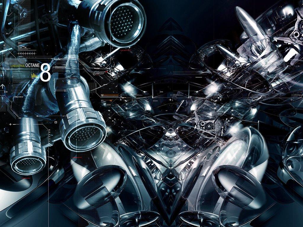 Abstract Wallpaper: Industrial Octane