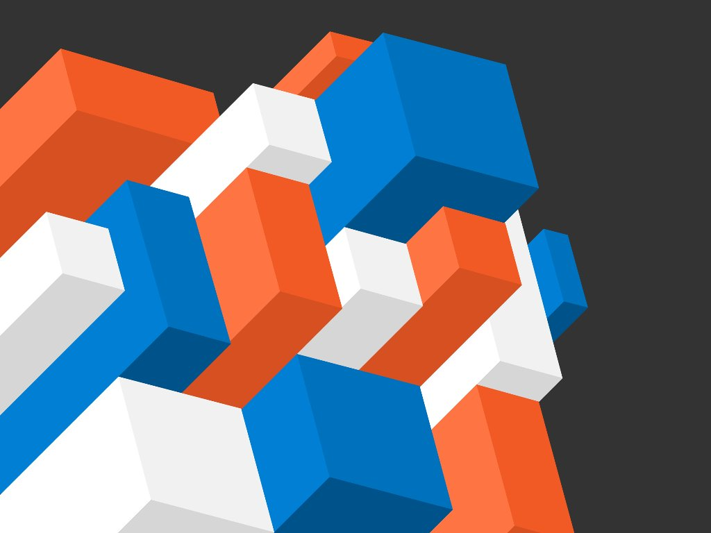 Abstract Wallpaper: Isometric