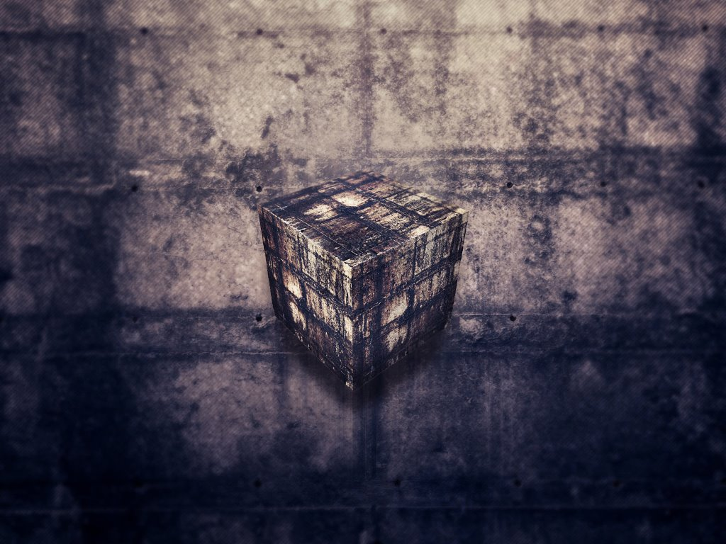 Abstract Wallpaper: Just Cube
