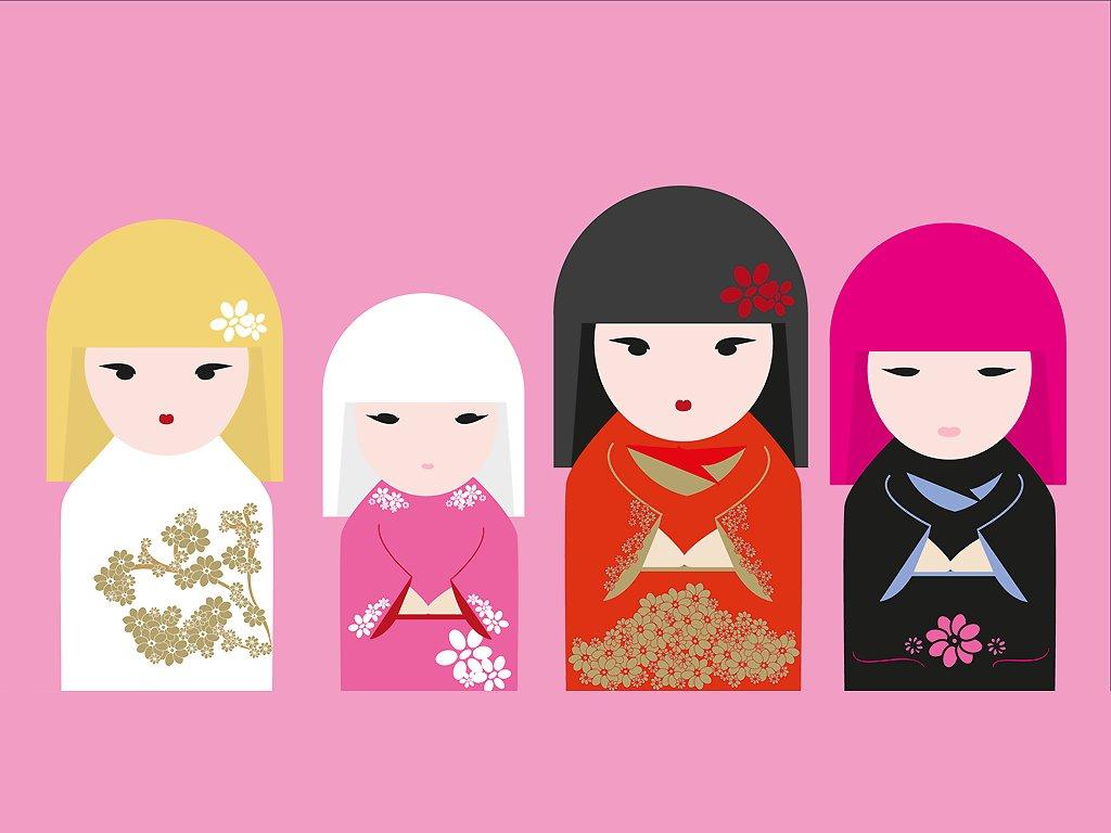 Abstract Wallpaper: Kimmi Dolls