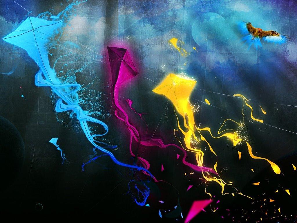 Abstract Wallpaper: Kites