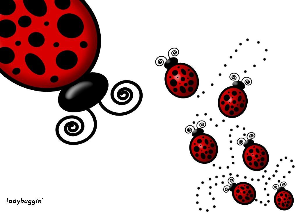 Abstract Wallpaper: Ladybuggin