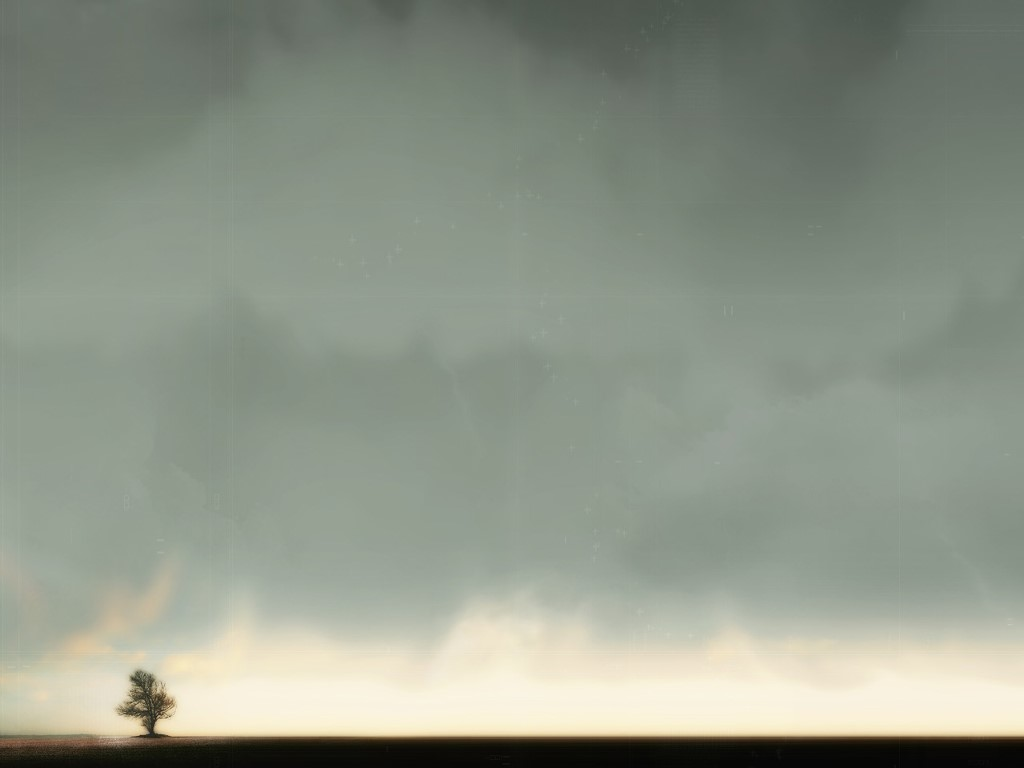 Abstract Wallpaper: Led Sky Lone Tree
