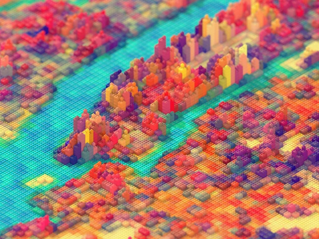 Abstract Wallpaper: Lego City