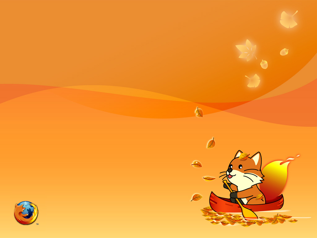 Abstract Wallpaper: Lil Firefox